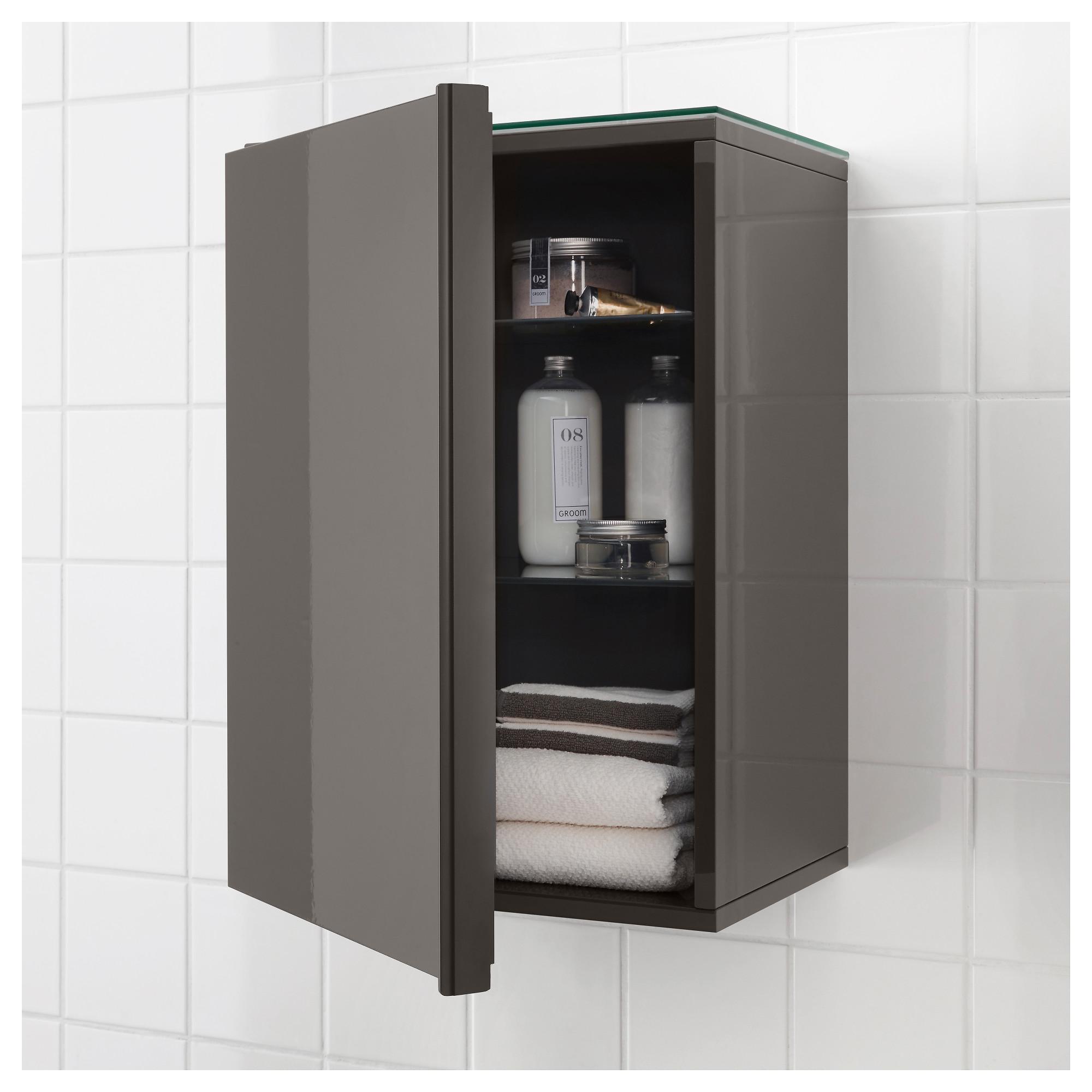 Ikea Morgon Wall Cabinet With 1 Door High Gloss Gray