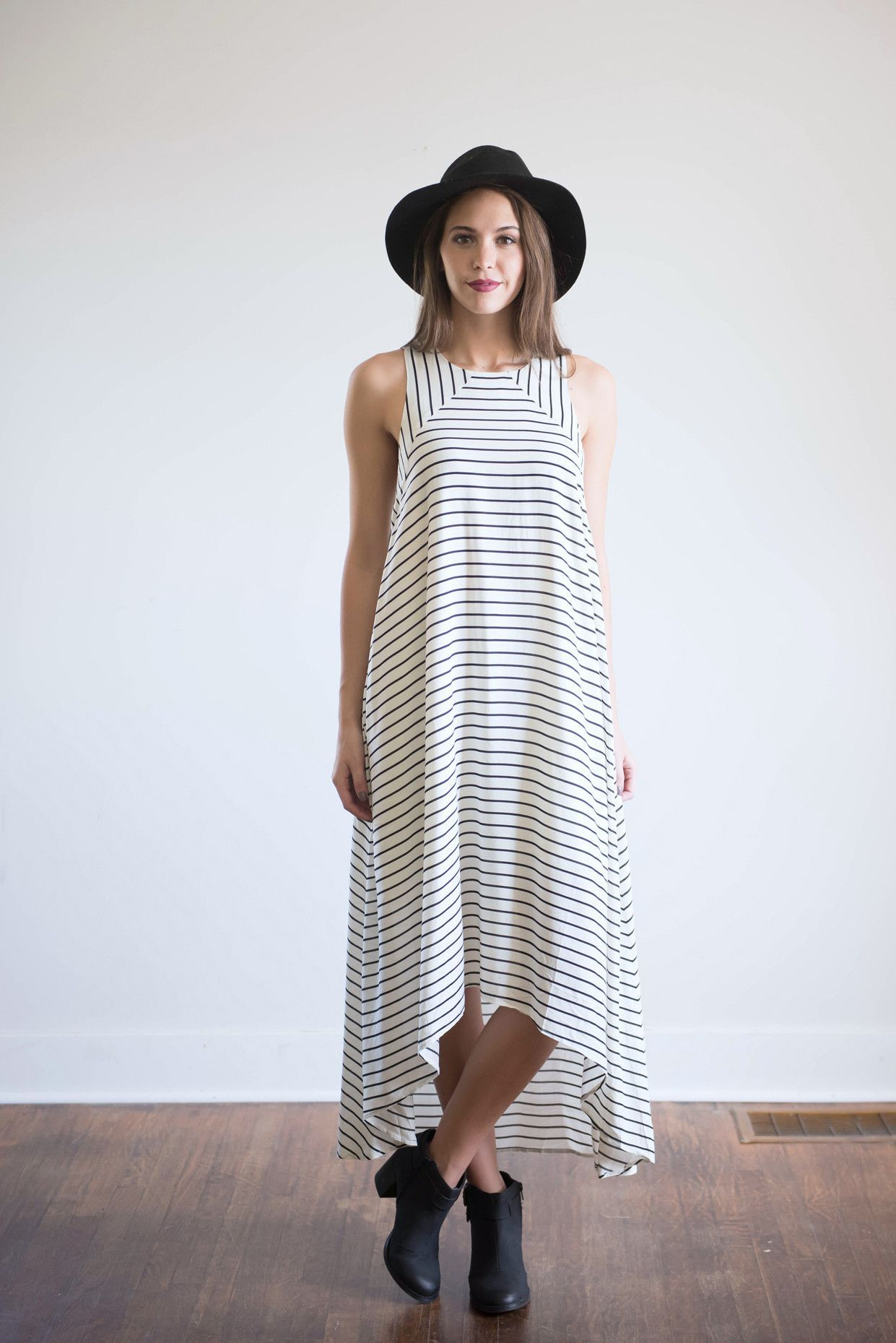 Piper's Pick: The Flowy Striped Halter Tank Dress