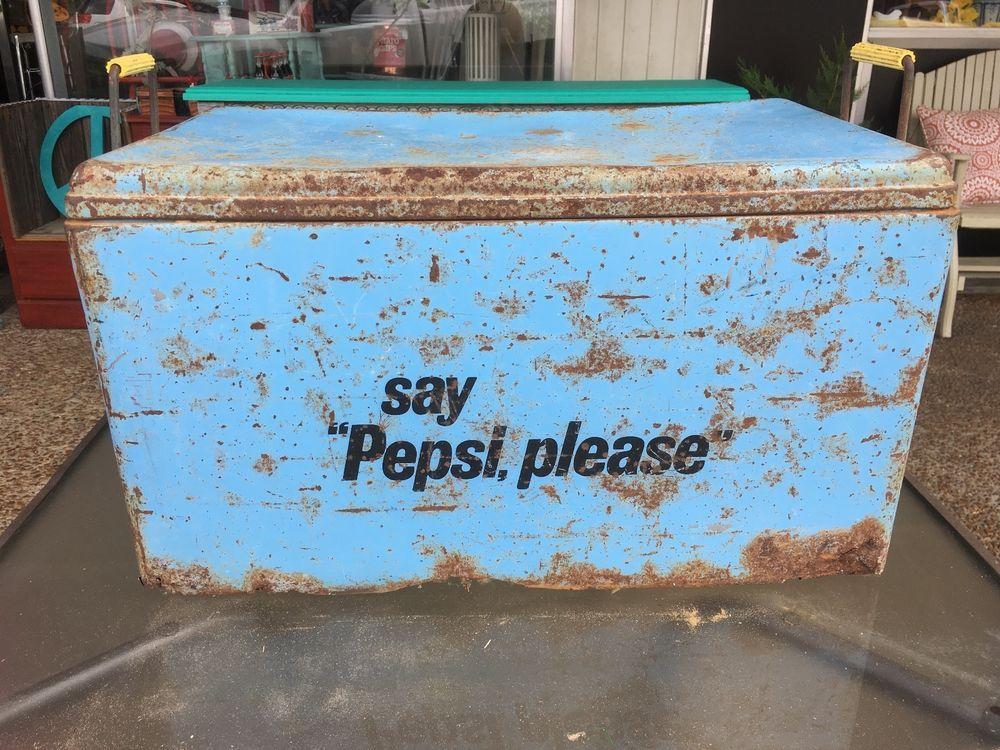 Blue Vintage Pepsi Cooler Ice Chest by Progress Refrigerator ...