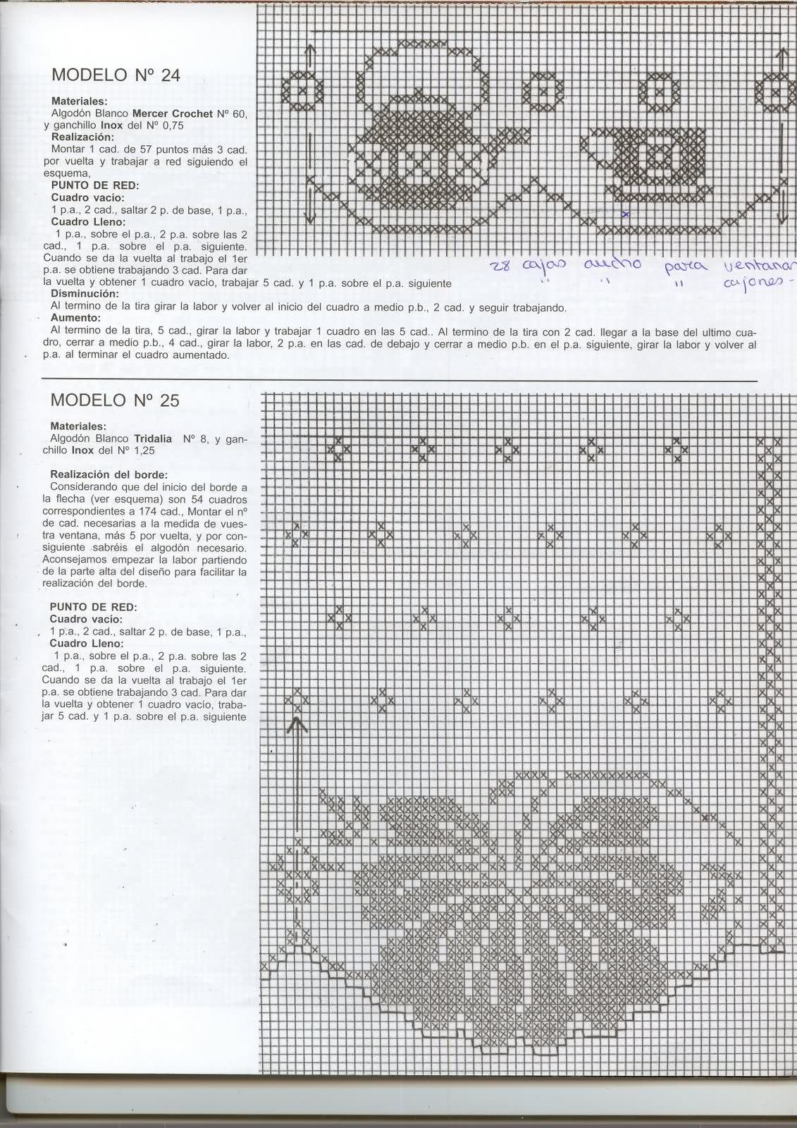 Resultado de imagen para cenefas a crochet para cortinas | Punto de ...