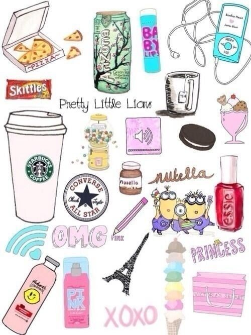 Hipster Iphone My Life Nutella Overlays Paris Pink Pizza Skittles Starbucks Tumblr Victorias Secret Wallpaper White Girls Fondo