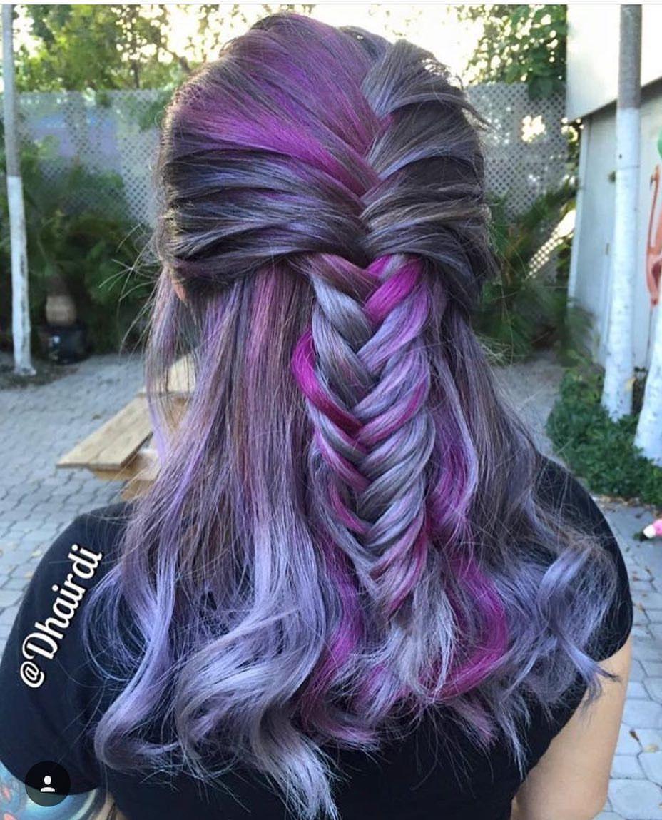 Pulp riot mermaid hair colour blue purple green turquoise hair