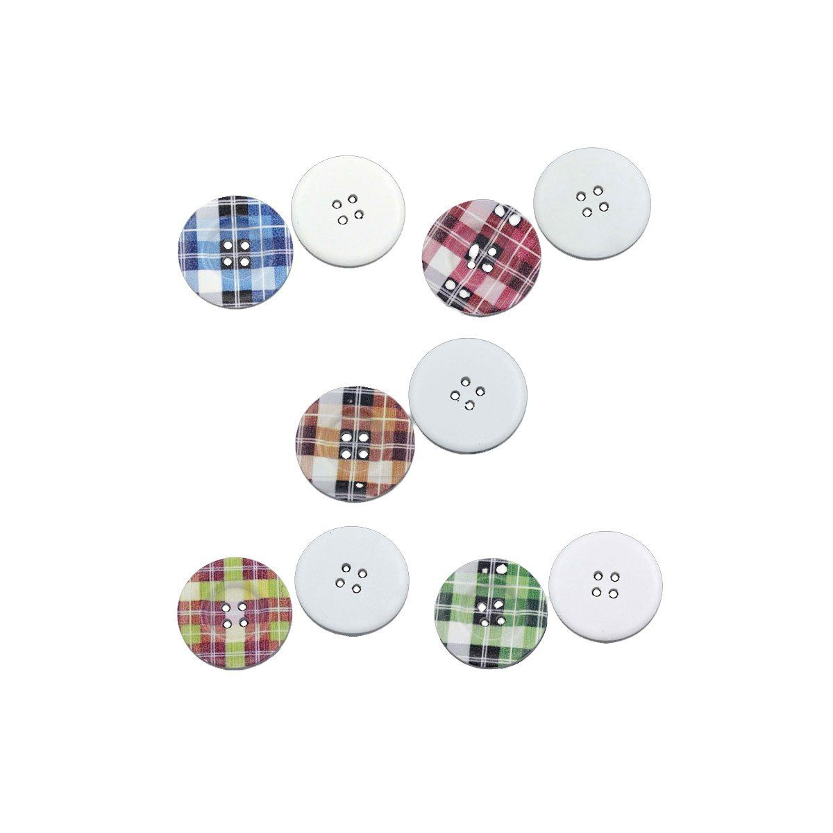 D9H1 Dia 30PCs Wood Sewing Buttons Scrapbooking Round Mixed 3cm 1 1//8inch