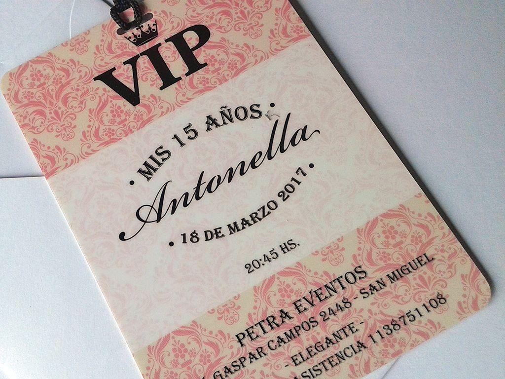 Invitaciones Vip Quince Años Xv Invites Invitaciones