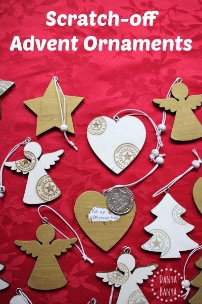 DIY Scratch-Off Advent Calendar Ornaments Advent calendars and