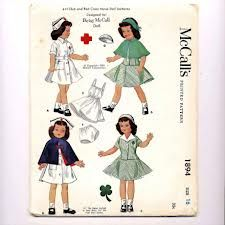 McCall's 1894 (Betsy McCall doll??) nurses uniform