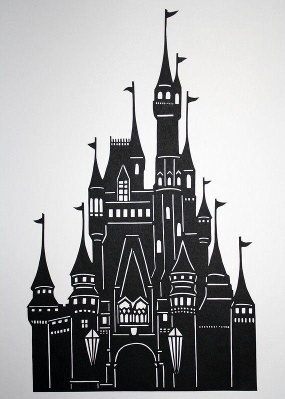 cinderella's castle papercutcartavitastudio on etsy