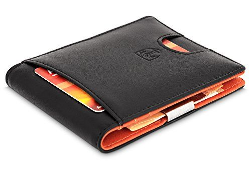 From Travando Slim Wallet With Money Clip Rfid Blocking - Porte carte credit