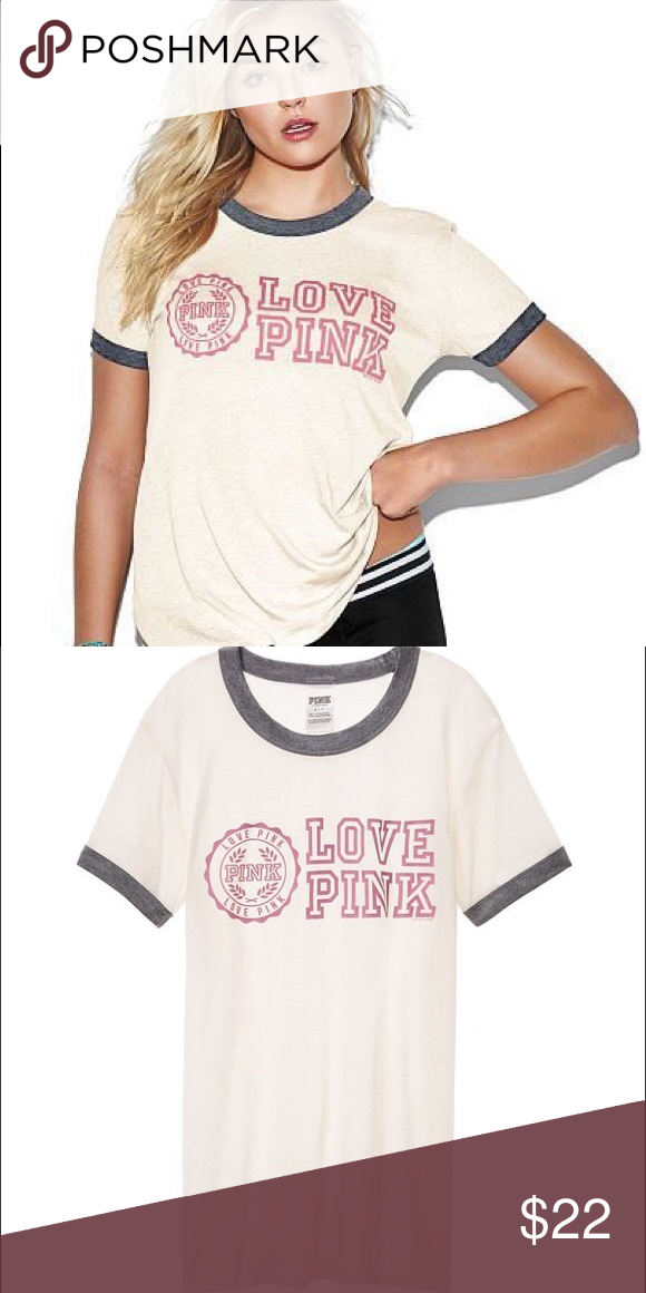 💖VS PINK Ringer Tee💖 In perfect condition! Open to offers! PINK
