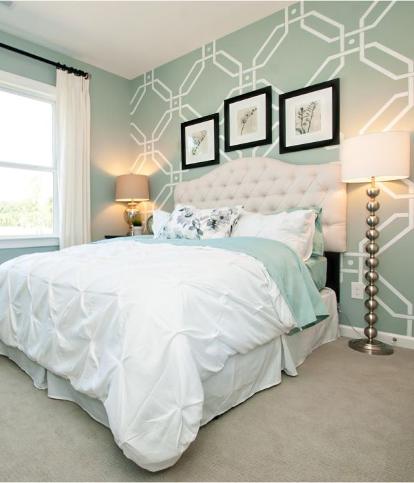 Light Aqua And White Combine To Give This Girl's Bedroom A