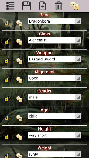 RPG Character Generator is an app which gives you unique and