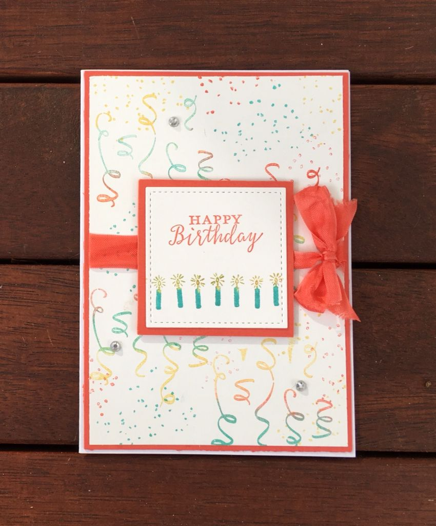 Stampin Up Birthday Backgrounds Stamp Set From The Upcoming 2018