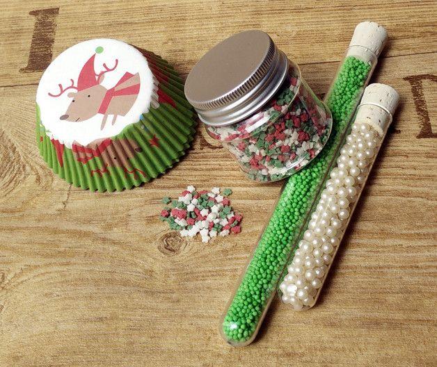 Set para decorar cupcakes de navidad accesorios de for Accesorios para decorar en navidad
