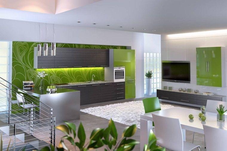 Pareti Cucina Verde. Top Gallery Of Interior Design Cucine Claudia ...