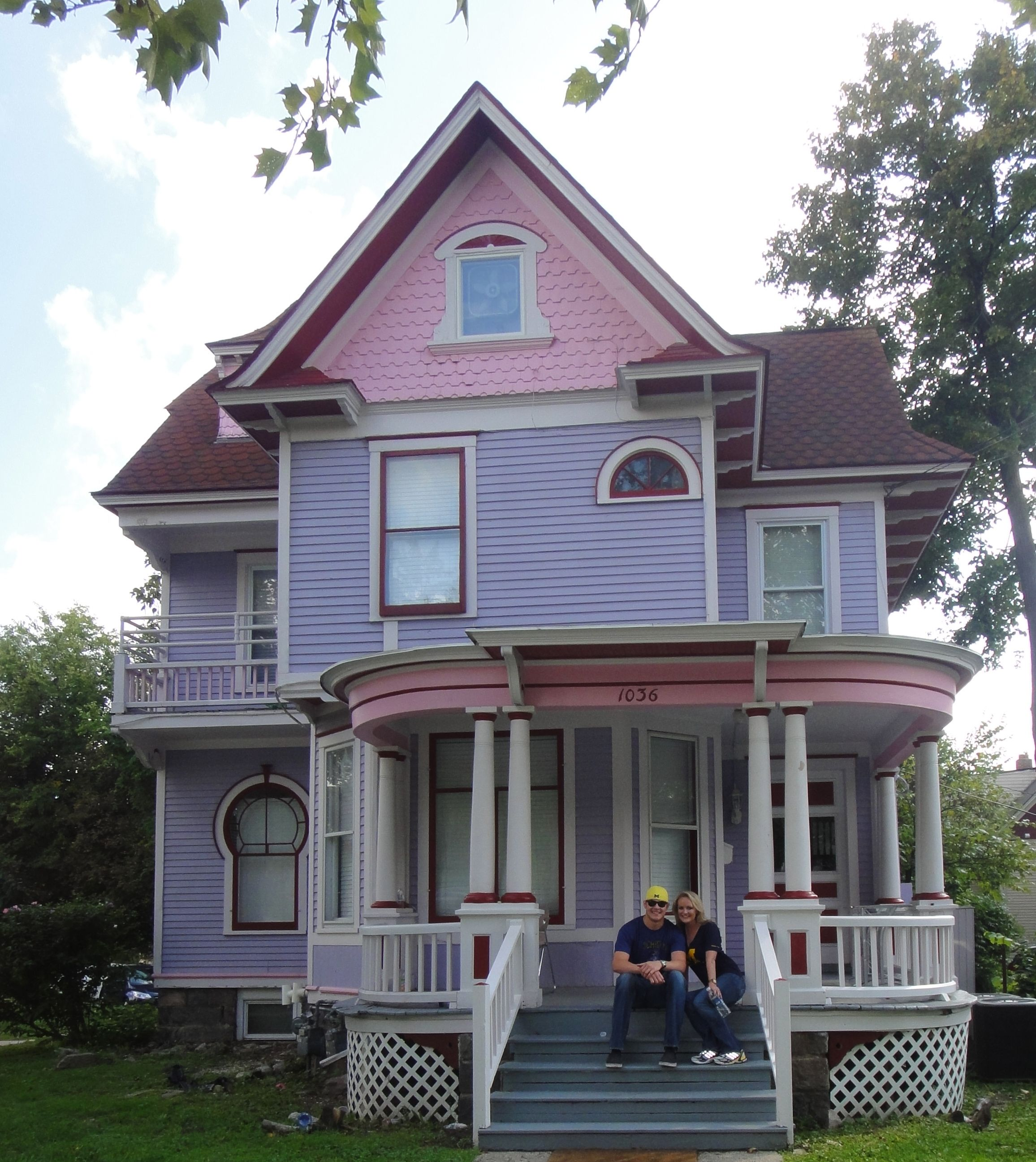 Yay Pink And Purple Lived Here Best House In Ann Arbor Alpha Phi Senior