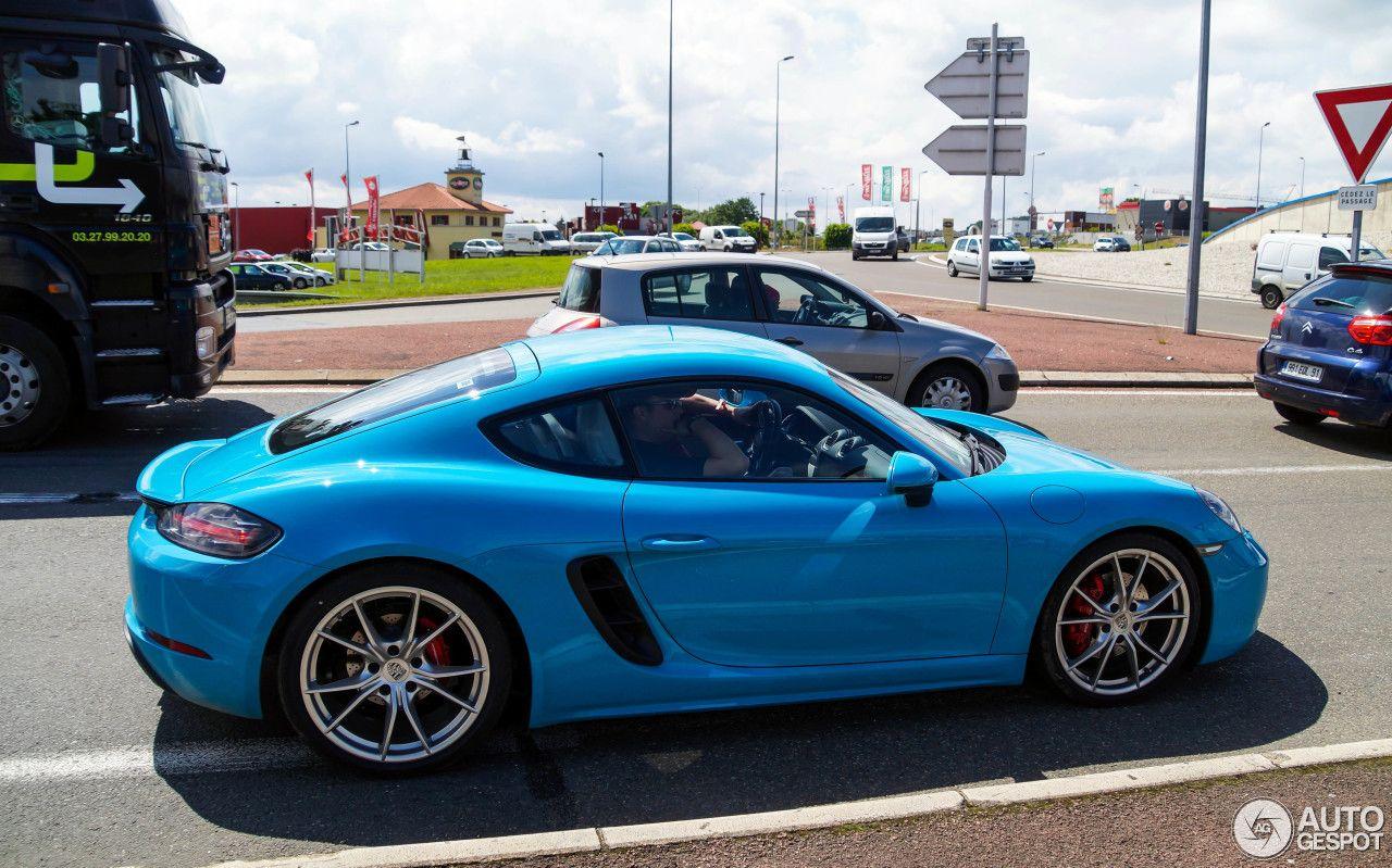 Porsche 718 Cayman S 4 | Miami Blue Porsche | Porsche 718 ...