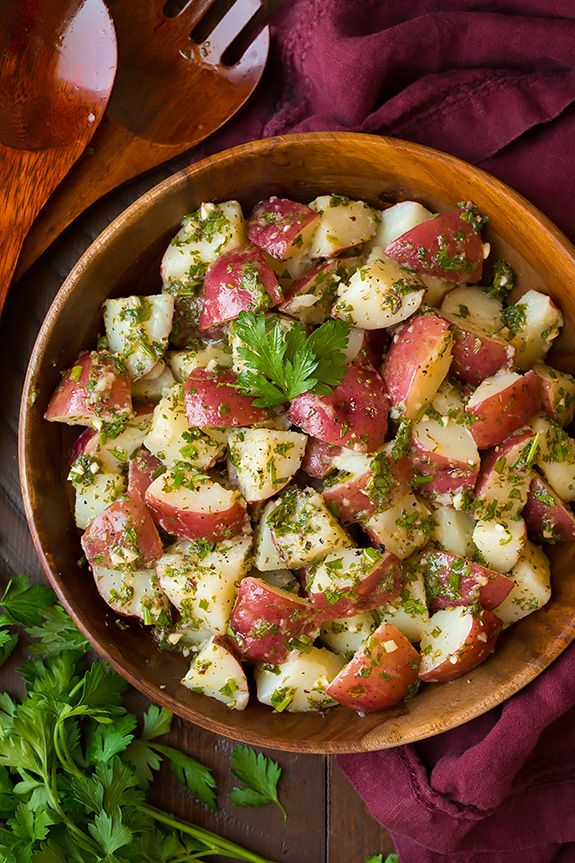 Garlic Herb Potato Salad - looks so simple and so delicious