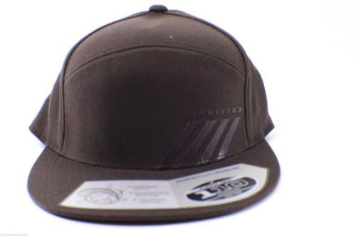 OAKLEY Yupoong Hat Mens FlexFit Halifax Cap Adjustable Back Hat Dark Brown