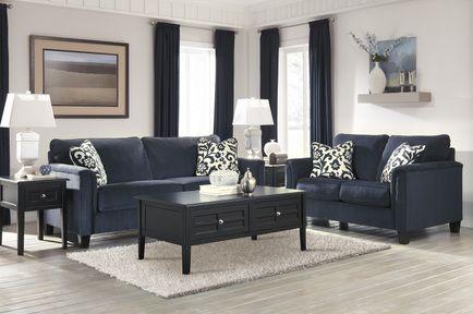 Furnitureusa Keendre Indigo Living Room 6pc Set By Ashley Living Room Remodel Living Room Collections Diy Living Room Decor