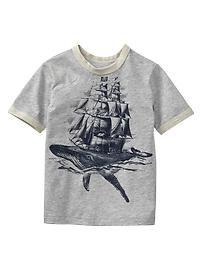 Sailing graphic T