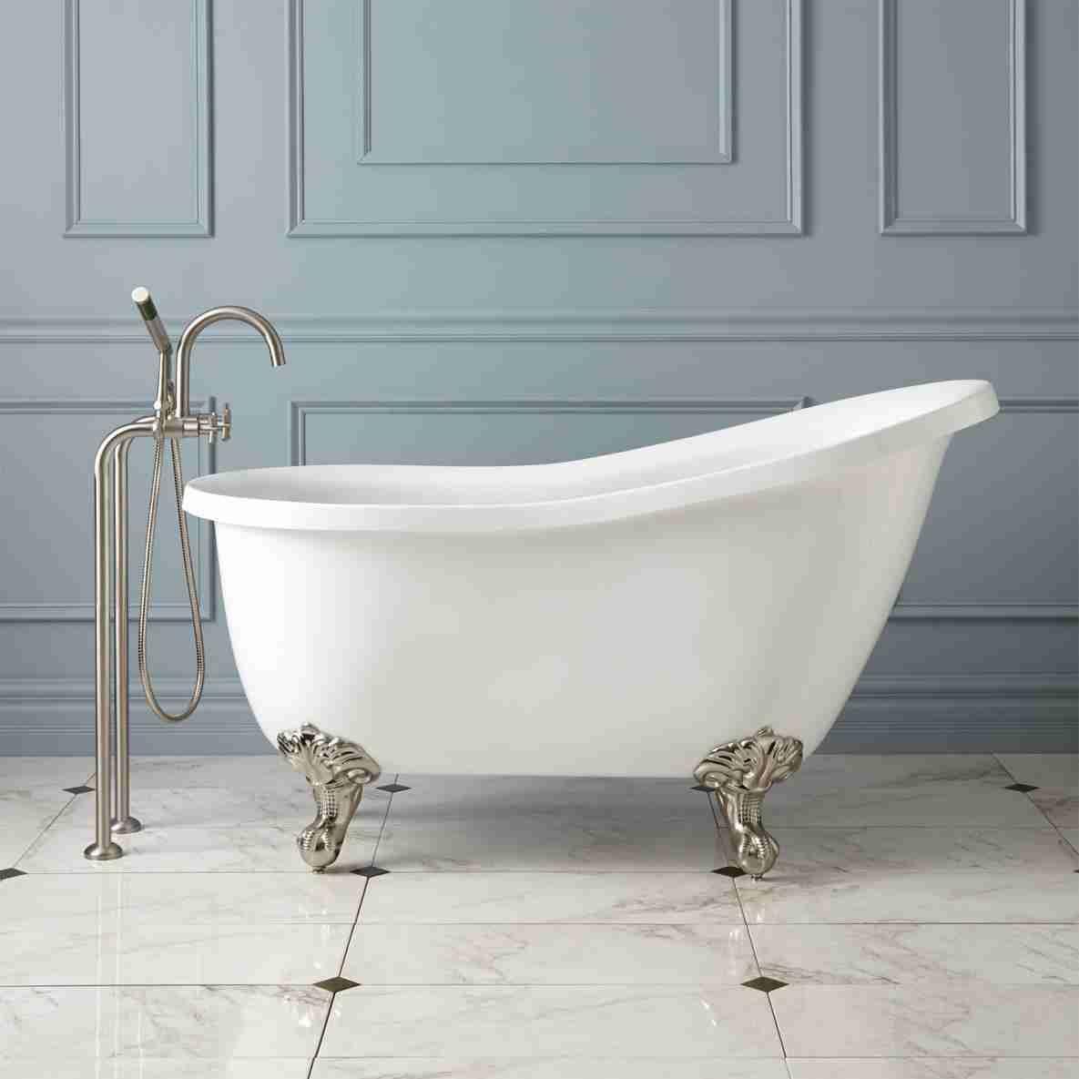 Footed Bathtub Acrylic Tub Slipper Tubs