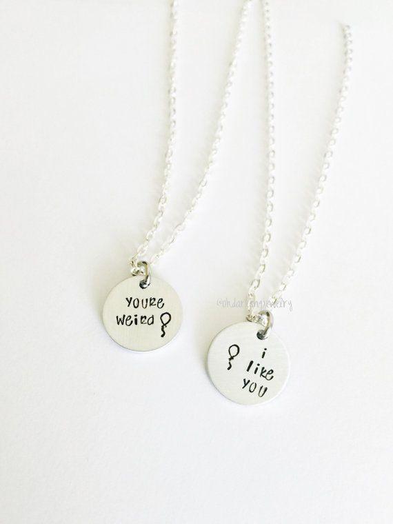 27b4363046 Disney Best friend necklace You're Weird I like You Best Friend Necklace by  ohdarlingjewelry