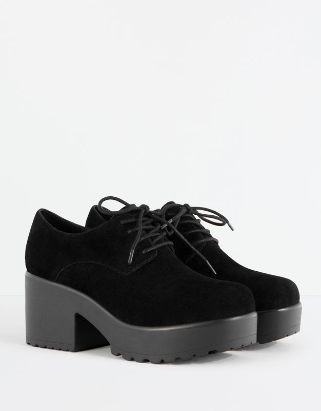 e231f9883f0 Heeled bluchers - See all - Shoes - Woman - PULL&BEAR France Ropa Guay,  Zapatos