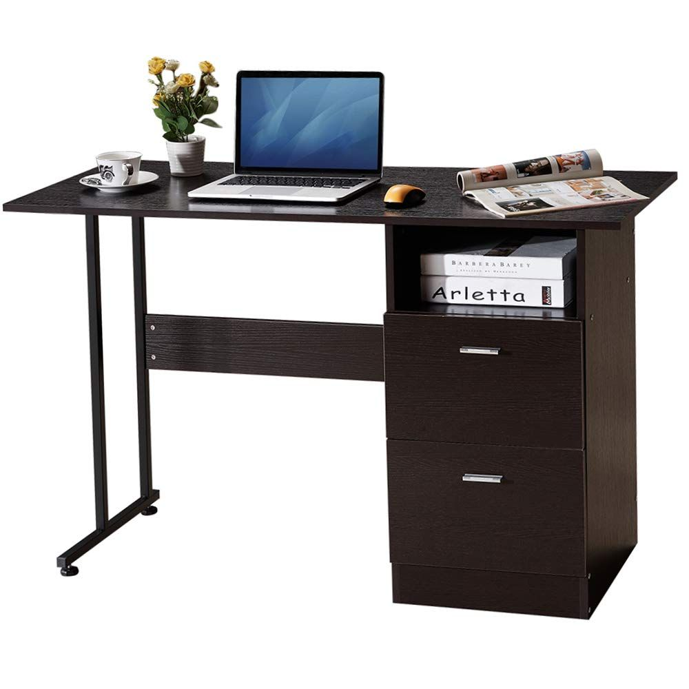 Long Computer Desk With Drawers Hideaway Computer Desk Desk