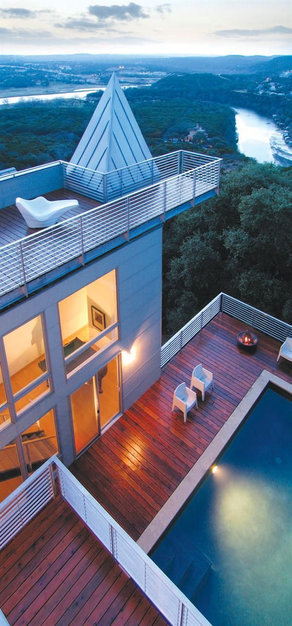 Residential Roof Deck Review - Roof Decking, Outdoor Rooms, Detail, Decks - Custom Home Magazine