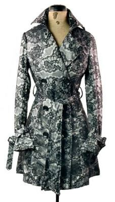 Beautiful lace trench coat by Victorian Trading Co.