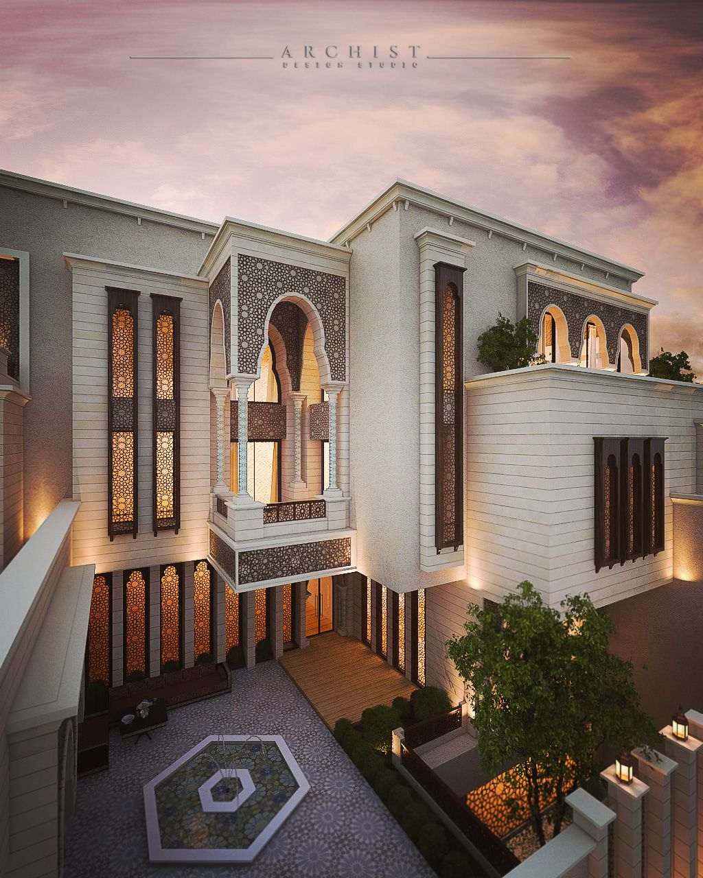 Conceptual Design For Islamic Private Villa Archist Islamic