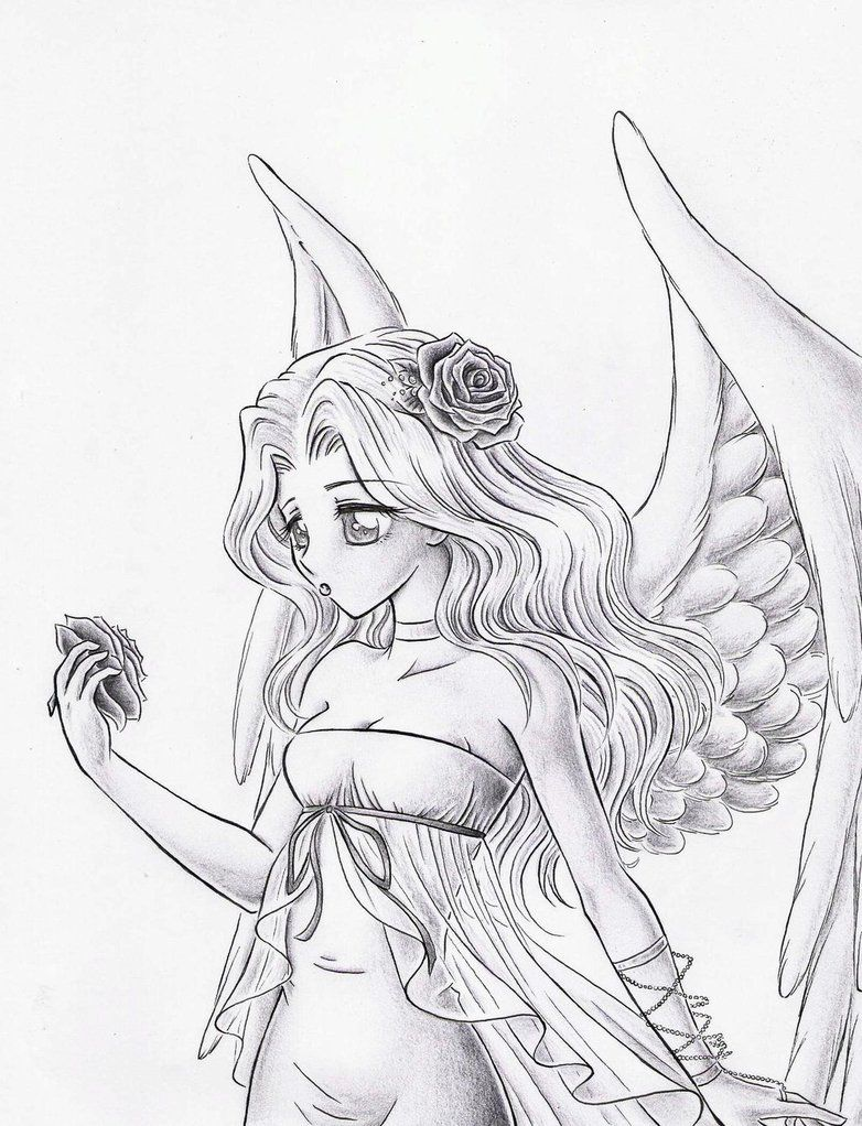 Free Angel Coloring Pages Coloring Pages Pictures Imagixs Coloriage Manga Dessin Elfe Dessin Ange