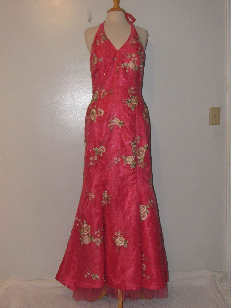 Jovani Beaded Embroidered Evening Gown Floral Military Ball Prom ...