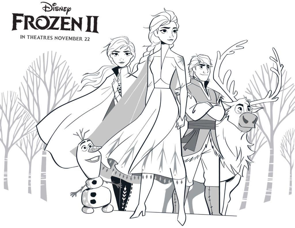 Dibujos Para Colorear Y Pintar Gratis De Frozen 2 De Disney Hispana Global Frozen Para Pintar Dibujos De Frozen Páginas Para Colorear Disney