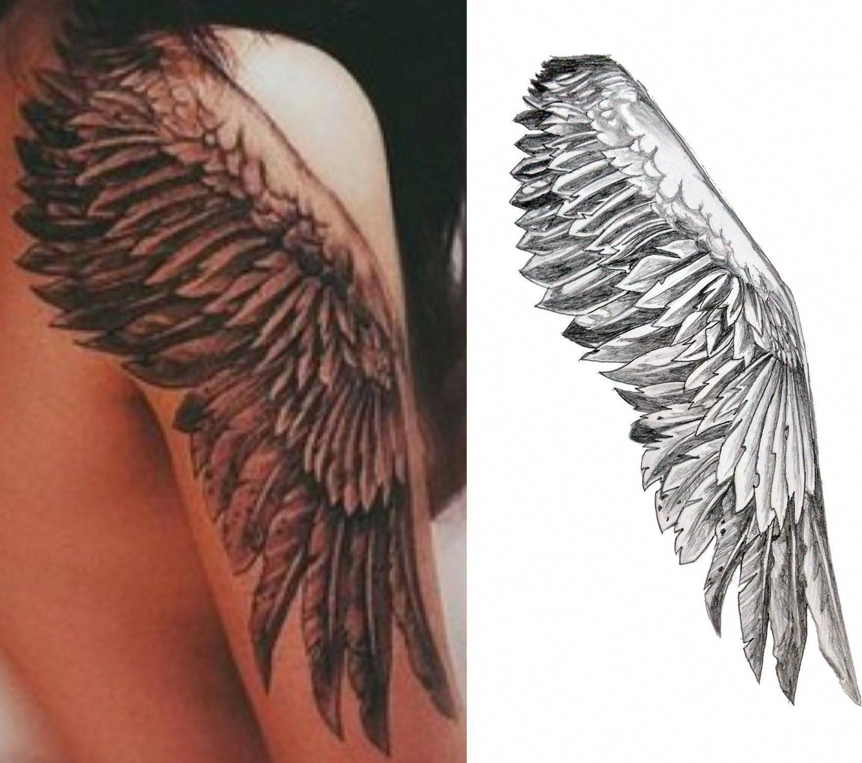 Wings Temporary Tattoo Cosplay Tattoos for guys, Wing