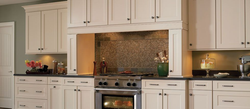 Woodmark cabinetry collection reading species painted for American maple kitchen cabinets