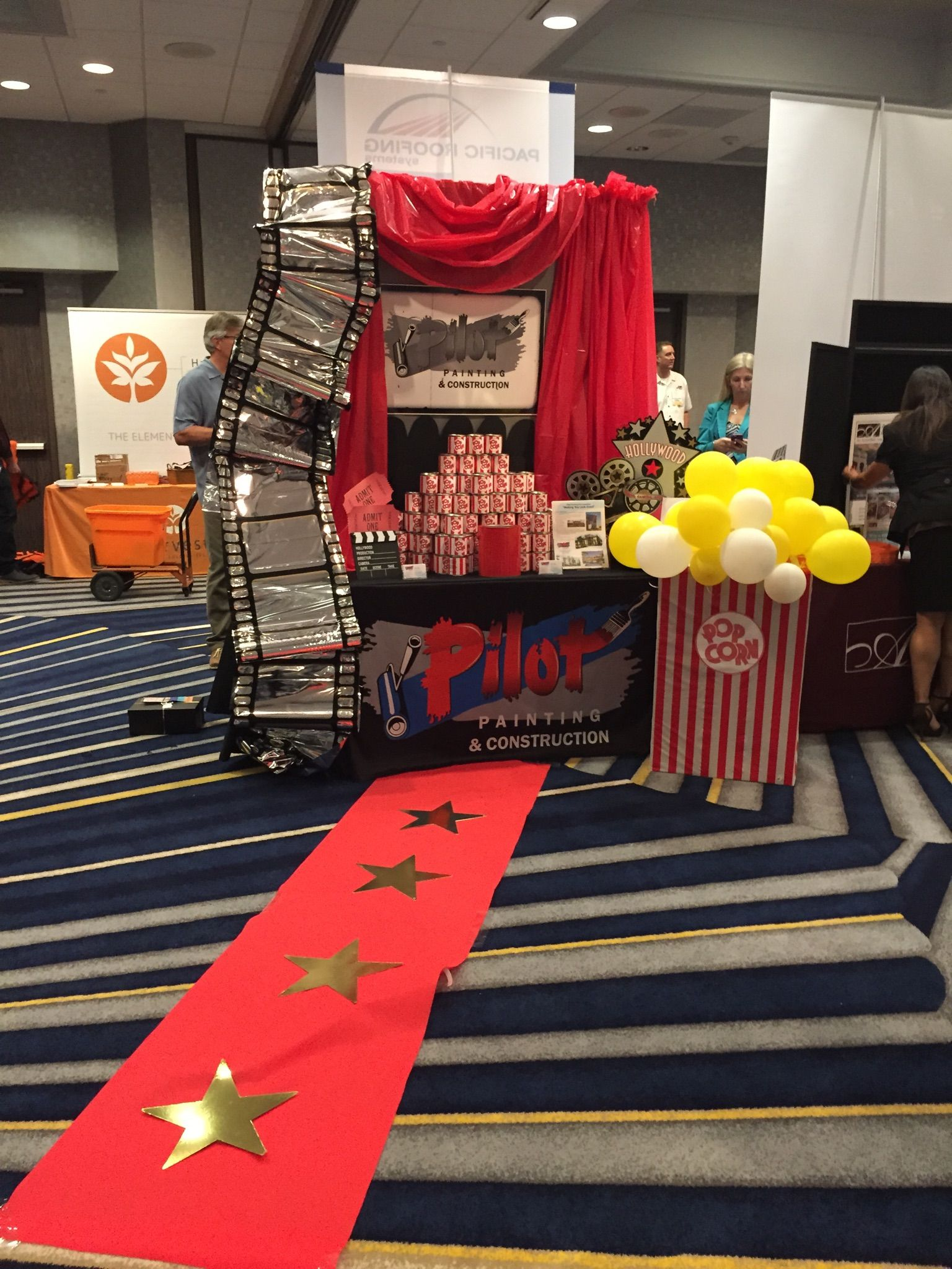 At the movies themed booth tradeshow boothideas