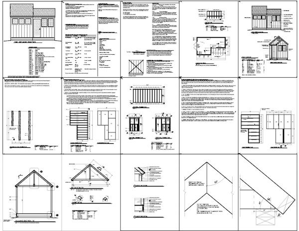 10 X 8 Shed Plans How To Build Diy By 8x10x12x14x16x18x20x22x24 Blueprints Pdf Homeshedplan Shed Plans Free Shed Plans Shed Building Plans