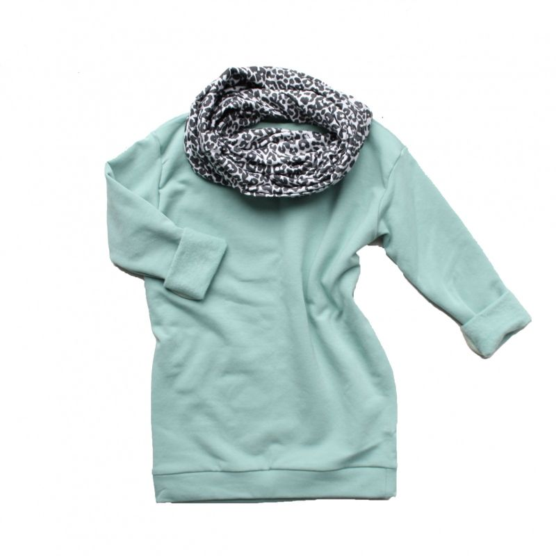 Mintgroene lange sweater