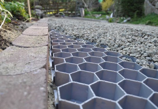 gravel driveway  pathway in the garden