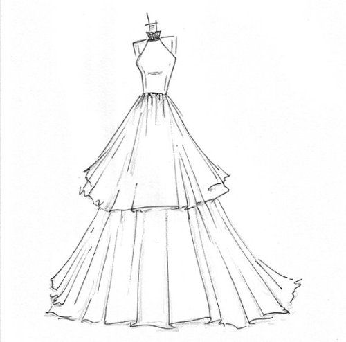 Simple dress sketches designs new fashion style