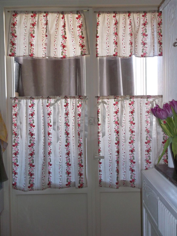 paire de rideaux brise bise pour
