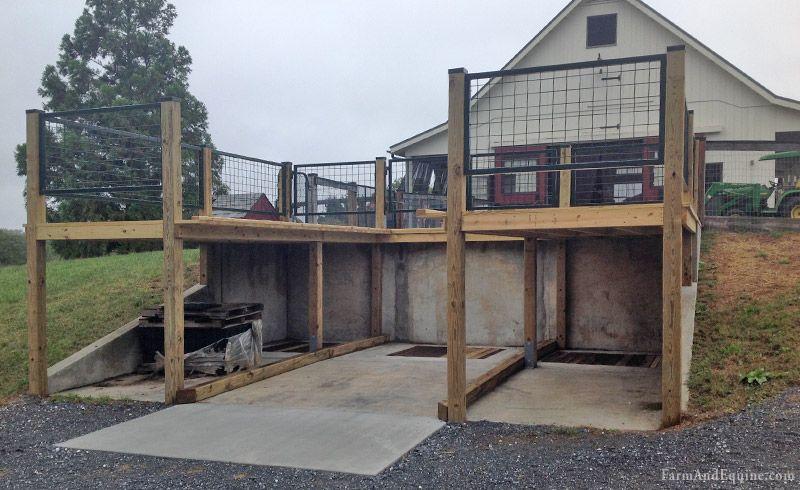 Manure Dumpster Loading Deck Bottom Manure Composting Barns Sheds Horse Barns