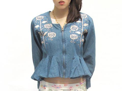 Carolina K Embroidered Denim Jacket