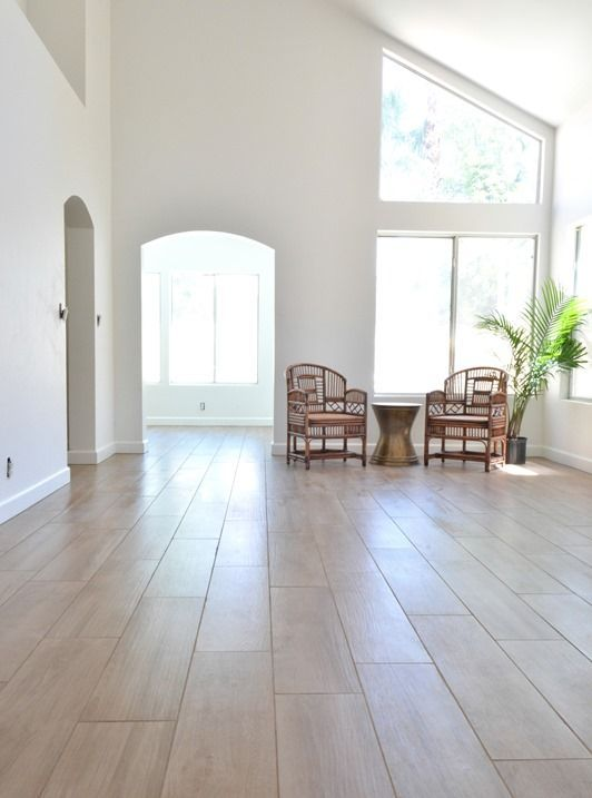 Daltile porcelain wood plank tile floor floor coverings for Most popular flooring in new homes