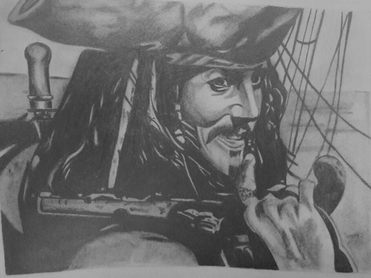#Jack #sparrow #piratas #b&w