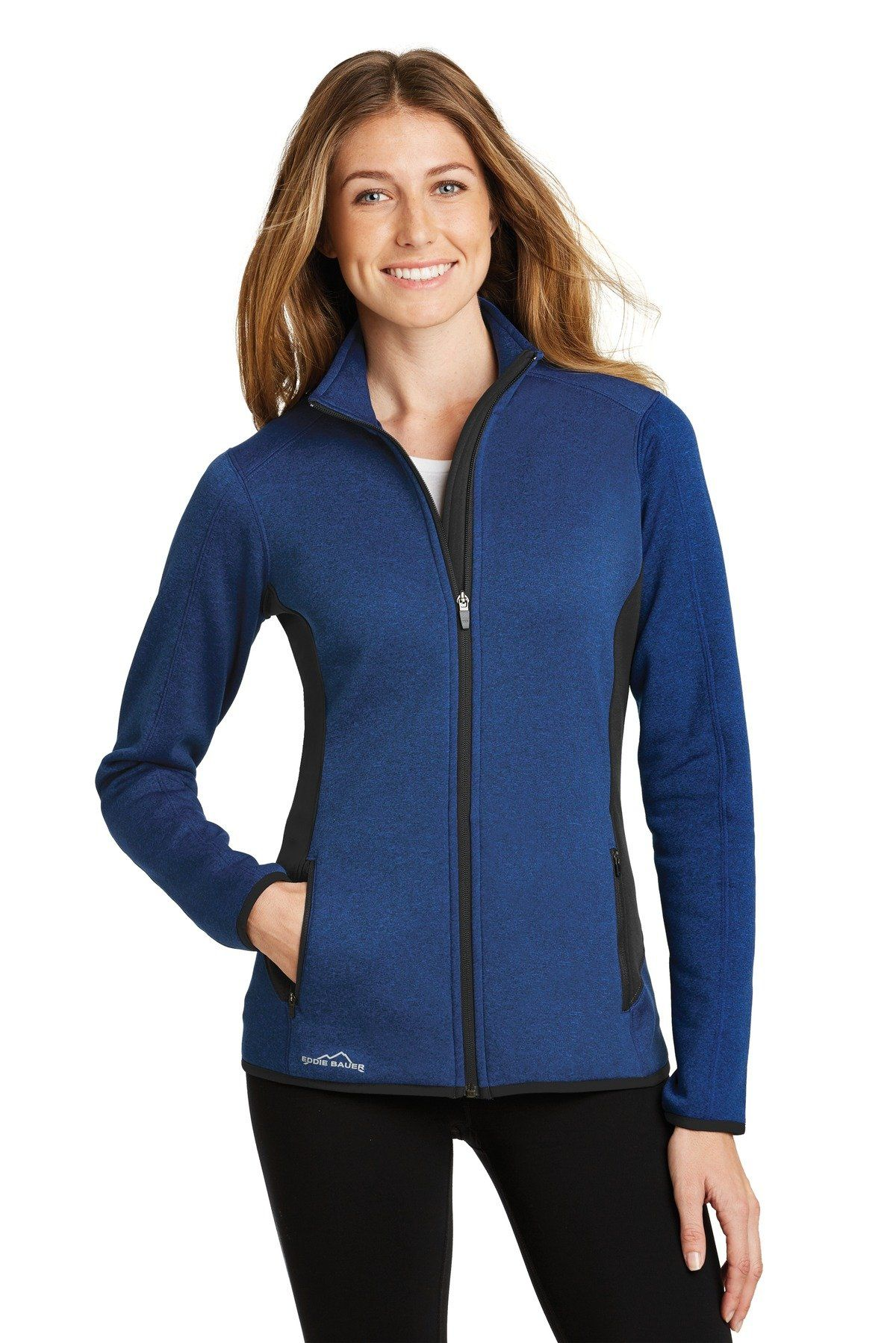 c20607bf3ea Eddie Bauer® Ladies Full-Zip Heather Stretch Fleece Jacket. EB239 ...
