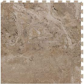 Perfection Floor Tile Lvt 6 Piece 20 In X 20 In Beige