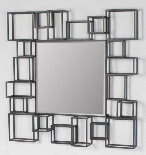 large modern geometric square decorative art dcor metal frame wall mirror american decor wholesalehttp