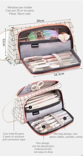 Aesthetic Check Pencil Cases en 2020 | Bolsos cartera ...